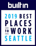 100 best places to work in Seattle 2019 - built in Seattle