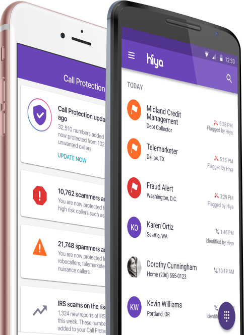 Hiya apto para dispositivos Android y iOS